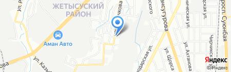 Яблочкова на карте Алматы
