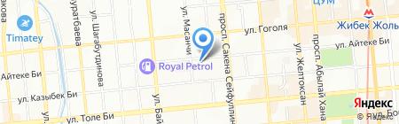 Городской ревматологический центр на карте Алматы