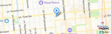 КазНМУ на карте Алматы