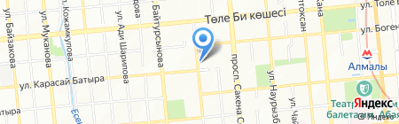 Столовая на ул. Масанчи на карте Алматы
