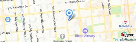Каспий на карте Алматы