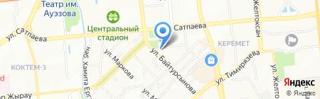 АУЭС на карте Алматы
