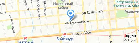 Дуан на карте Алматы
