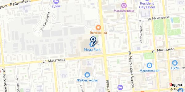 Лифт на карте Алматы