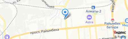 Нотариусы Елемесов А.Р. и Елемесова А.А. на карте Алматы