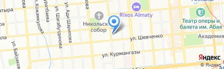 Ясмины на карте Алматы