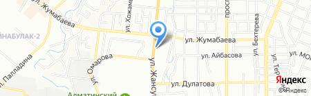 Бостан на карте Алматы