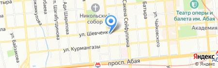 Нотариус Шакетова З.Ч. на карте Алматы