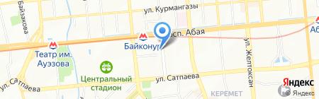 Даналык на карте Алматы