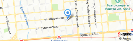 Новый взгляд на карте Алматы