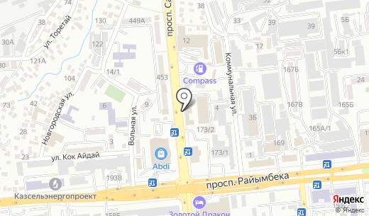 СоМал-тур.KZ. Схема проезда в Алматы