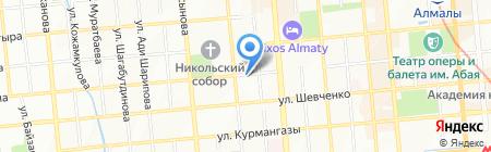 Баймен на карте Алматы
