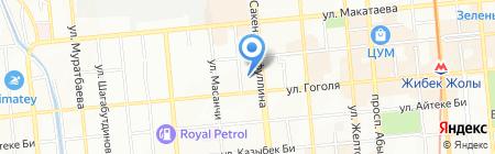 Гимназия №15 на карте Алматы