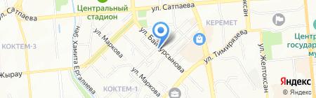 Бостандыкский районный суд по уголовным делам г. Алматы на карте Алматы