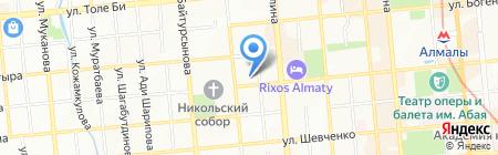 Локон на карте Алматы