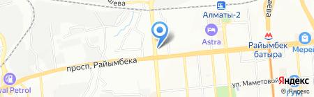 Вираж на карте Алматы