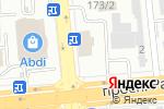 Схема проезда до компании Вираж в Алматы