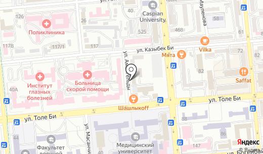 НАДЕЖДА. Схема проезда в Алматы