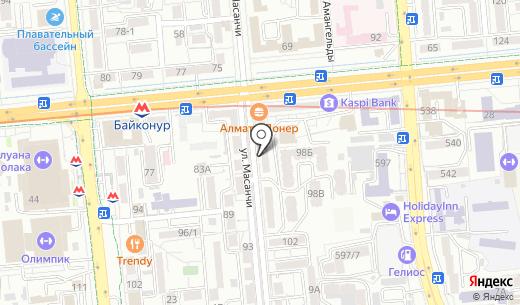 Раритет. Схема проезда в Алматы