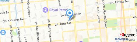 Баланс на карте Алматы