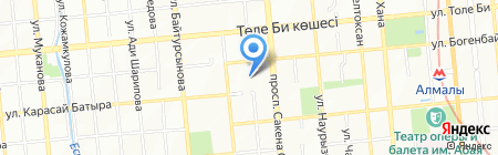 Каптерка на карте Алматы