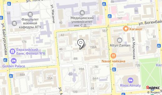 Инкассация Сервис. Схема проезда в Алматы