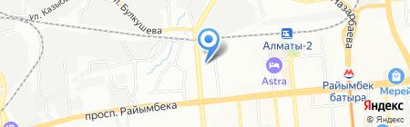 АЗС Unipetrol на карте Алматы