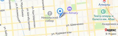 Гелий на карте Алматы