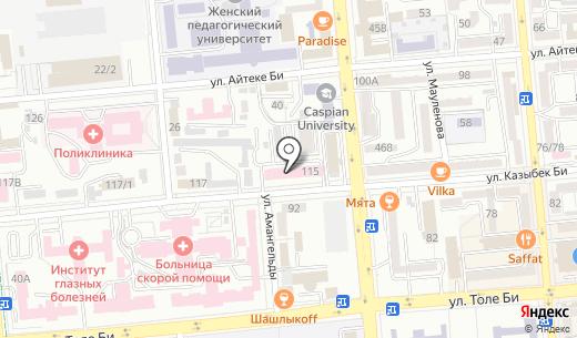 Медик. Схема проезда в Алматы