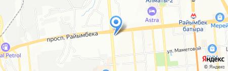 Шадыман на карте Алматы