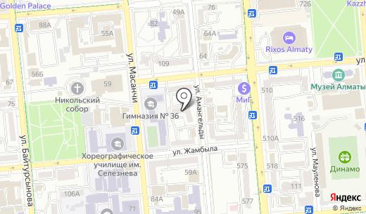GRS. Схема проезда в Алматы