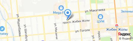 Бюро по работе с дебиторами на карте Алматы