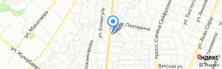 Абухан на карте Алматы