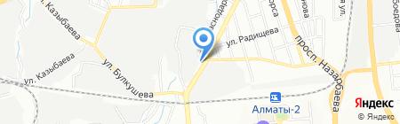 Гулистан на карте Алматы