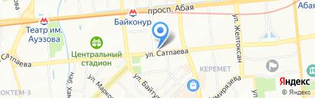 Нотариус Абылкасымова А.Т. на карте Алматы
