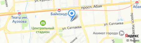 Нотариус Рустемова Г.Р. на карте Алматы