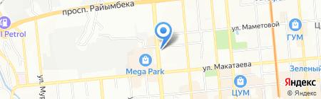 Аркаим на карте Алматы