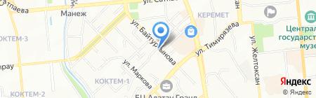 Альзана Люкс Тур на карте Алматы