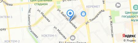 Марал на карте Алматы