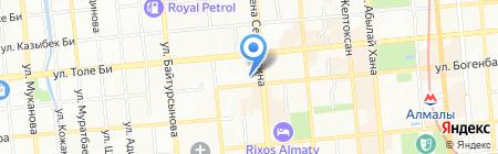Студенческая ТОО на карте Алматы