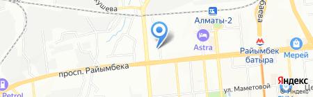 МЕТА на карте Алматы