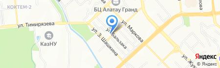 Отау-Курмет на карте Алматы