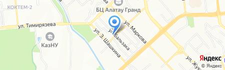 Грант Отау на карте Алматы