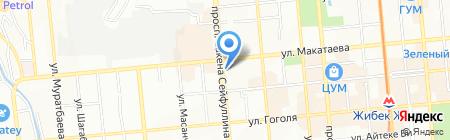 Жасау на карте Алматы