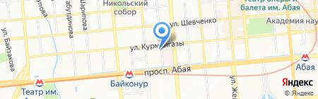Автостоянка на ул. Курмангазы на карте Алматы