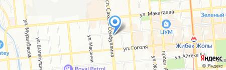 Дос Полис на карте Алматы