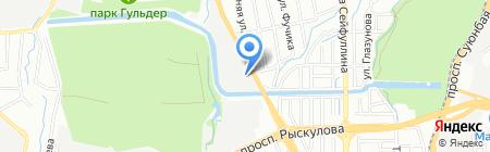 Автошкола союза водителей на карте Алматы