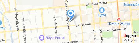 Ампир на карте Алматы