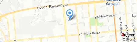 Синал на карте Алматы