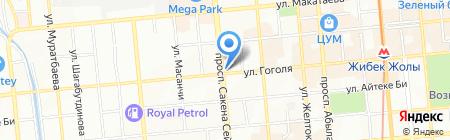 Жансу на карте Алматы
